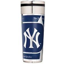 New York Yankees Logo Travel Mug Tumbler Stainless Steel 22 oz Metallic Wrap