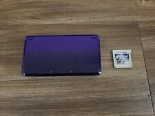 Nintendo 3DS System (Midnight Purple) w/game TESTED AND WORKING!