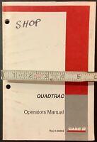 CASE IH Quadtrac Operators Manual, Rac 9-29263, Original. Paper