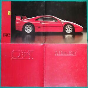 Depliant della Ferrari F40 - 1987 / Originale