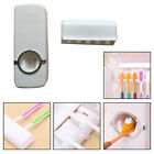 Automatic Toothpaste Dispenser And 5 Toothbrush Holder Set Wall Mount Stand New