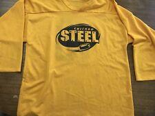 Ushl Chicago Steel Practice Jersey Xl Yellow Mint Vintage