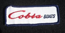 "COBRA BOAT EMBROIDERED SEW ON PATCH ADVERTISING UNIFORM HAT SHIRT 4"" x 1 1/2"""