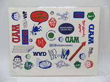 Mad Magazine Sheet of Temporary Tattoos or Window Decals