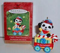 Hallmark Keepsake Christmas Ornament 2001 CHILD'S THIRD CHRISTMAS Train Car  H9
