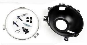 NEW! 1965 - 1966 Ford Mustang Headlight Bucket Retainer Ring, Hardware Set - Kit