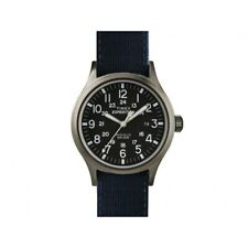 Timex Orologio Indiglo Cinturino tessuto colorato Luce Abt962 Pelle Blu Blue