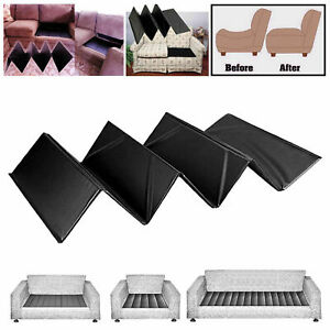 DELUXE SOFA SEAT REJUVENATOR BOARDS ARMCHAIR SUPPORT 1-2-3 SEATER SAVERS(Black)