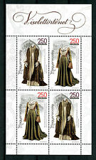 Hungary 2016 MNH Hist of Clothing Pt I Traditional Costumes Dress 4v M/S Stamps