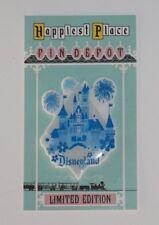 Sale Disneyland Sleeping Beauty Castle fireworks vintage blue custom fantasy pin