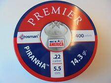 Crossman premier piranha air rifle pellets .22 / 5.5 mm 14.3 gr x 400 pellets