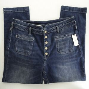 NWT Pilcro and the Letterman 32 High-Rise Slim Button Fly Waist Jeans Crop Super