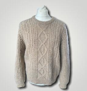 Vintage gaeltarra Aran Cable Knit Chunky wool Jumper - Size Medium Ireland