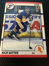 Rich Sutter  Blues 1990-1991 Score #281