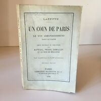 J. Laffitte Un De París Xvie Auteuil Passy Chaillot Boulogne Hachette 1898