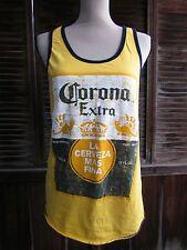 Corona Yellow Women's/Men's Casual Tank Top Unisex M Summer Top 100% Cotton