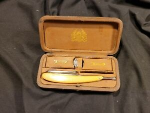 Durham Duplex Safety Razor In Original Learther Wrap Hard Case Box Vintage