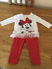 Girls Disney Minnie Mouse Outfit 6-9 Months