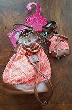My Generation OG Outfitters Me & You Orange Drawstring Handbag for Doll & Girl