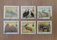 Complete Zimbabwe used stamp set: 1990 Wildlife series