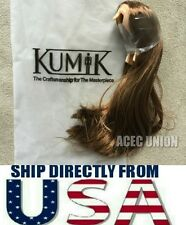 KUMIK 1/6 Scale Female Hair Wig Brown For Hot Toys Head Sculpt - U.S.A. SELLER
