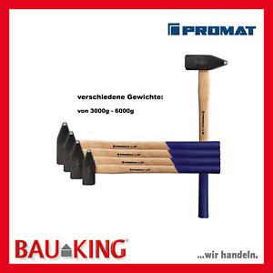 Promat Vorschlaghammer mit Hickorystiel Hammer Schlaghammer 3 kg, 4kg, 5kg, 6 kg