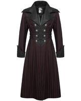 Punk Rave Mens Steampunk Coat Jacket Black Red Stripe Gothic Victorian Gentleman