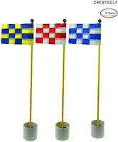Crestgolf Backyard Putting Green Golf Hole Pole Cup Kids Flag Sticks 2/3set/pack