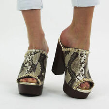 "Very High Heel (greater than 4.5"") Animal Print Block Heels for Women"