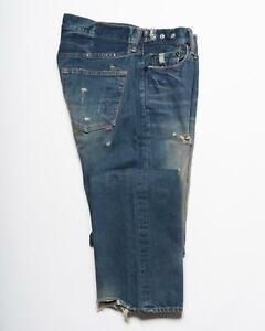 PRPS New Blue Destroyed Denim Made in Japan Original Fit Cotton Jeans 32