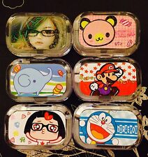FREE SHIPPING Cute Contact Lens Cases Set Travel Size Container Kit H1-H6