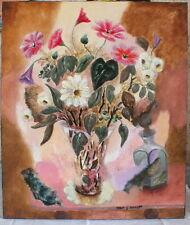 hst huile sur toile peinture de Robert G.Schmidt bouquet certificat tableau