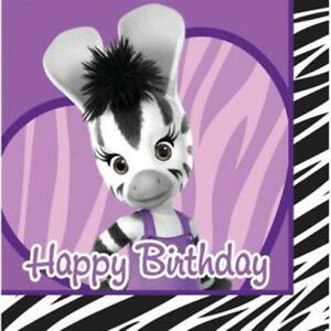 Zou Elzee Happy Birthday 3-Ply Paper Lunch Napkins 16 Pack Birthday Decoration