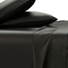 King Size 100% BAMBOO SHEET SET 400TC Luxe Black Soft Healthy&Anti Bacterial New