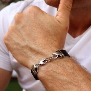 Leather wristband for Men, Stylish Leather Bracelet, Boyfriend Gift, Men's Gift
