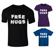 Free Hugs Slogan Funny T-shirt - Mens, Womens And Kids Sizes