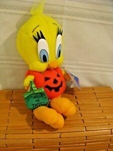 "Tweety Bird Plush 1997 Warner Bros Halloween Ace Looney Tunes  11"" with Tags"