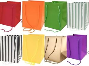 Floristry Hand Tie Porto Bags Pack of 10 Display Flower Bouquets In 18 Colours