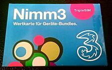 Nimm3 Österreich Starterpaket * Triple - Simkarte inkl 100 Minuten/SMS/MB  *NEU*