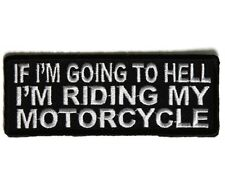 EMBROIDERED PATCH HELL JACKET VEST SHIRT CAP MOTORCYCLE HELMET HARLEY HONDA GSXR