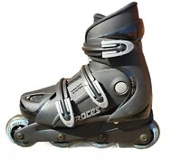 Roces Agressive  Inline Skates Size 3.5 Black + Silver Womens Girls Boys