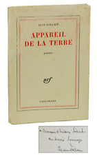 Appareil de la terre by JEAN FOLLAIN ~ SIGNED First Edition 1964 ~ French Poetry