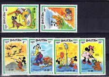 060+  TIMBRES  WALT DISNEY   SERIE  BHUTAN