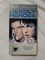 DEADLY HEROES (VHS 1996) RARE (OOP) SCREENER COPY OutOfPrint JAN-MICHAEL VINCENT