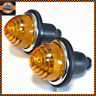 x2 Universal Lucas Style Amber indicator Lamps Lights CLASSIC / KIT CAR