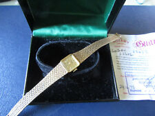 Scarce 1970's  LADIES 9CT solid GOLD ROTARY  21 Jewel Wristwatch BOX & PAPERS