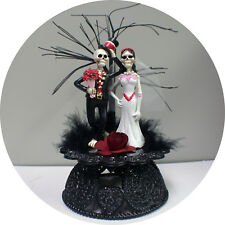 Wedding Cake Topper Day of the Dead Skeleton Skull Tree Groom Top Funny Scary