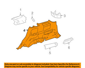 FORD OEM 05-07 Freestyle-Quarter Trim Panel Right 5F9Z7431012BAA