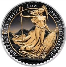 2017 £2 BRITANNIA AT SUNSET  1 Oz Silver Coin.