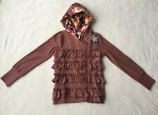 MATILDA JANE HALF PAST ONE Jacket Ruffle Hoodie Girls Once Upon A Time Size 10